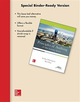 Principles of Auditing and Other Assurance Services, by Whittington, 20th Edition 9781259295461