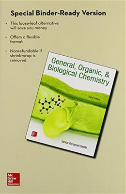 General Organic and Biological Chemistry, by Smith, 3rd Edition 9781259298431