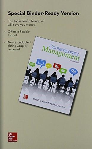 Contemporary Management, by Jones, 9th Edition 9781259301353