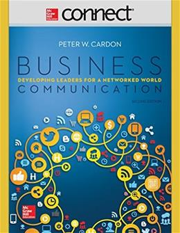 Business Communication, by Cardon, 2nd Edition, ACCESS CODE ONLY 2 PKG 9781259302879