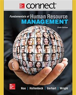 Fundamentals of Human Resource Management, by Noe, 6th Edition, ACCESS CODE ONLY 6 PKG 9781259303661