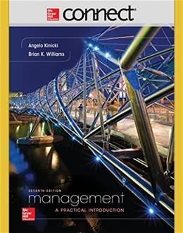 Connect 1 Semester Access Card for Management, by Kinicki, 7th Edition, Access Code Only 7 PKG 9781259304200