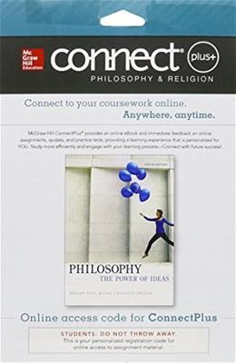 Connect Plus Philosophy & Religion Access Card for Philosophy: The Power of Ideas 9 9781259329968