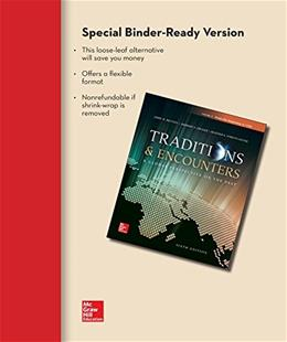 Traditions and Encounters, by Bentley, 6th Edition, Volume 1: From the Beginning to 1500 9781259344572