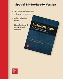 Business Law, by Mallor, 16th Edition 9781259408595