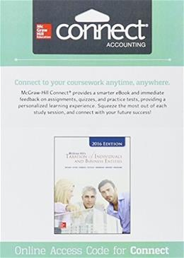 Connect 2 Semester Access Card for McGraw-Hills Taxation of Individuals and Business Entities, 2016 Edition 7 9781259419843
