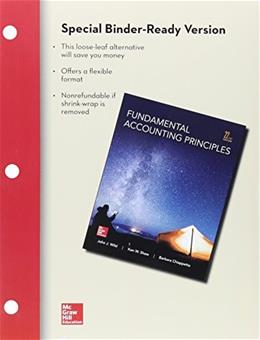 Fundamental Accounting Principles, by Wild, 22nd Edition 22 PKG 9781259542169