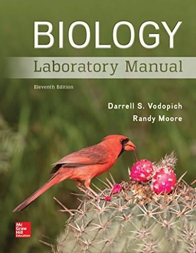 Biology, by Vodopich, 11th Edition Laboratory Manual 9781259544873