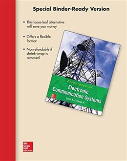Loose Leaf for Principles of Electronic Communication Systems 4 9781259545610