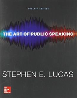 Art of Public Speaking with Connect Access Card 12 PKG 9781259545993