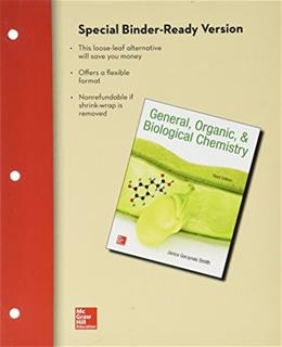 General Organic and Biological Chemistry, by Smith, 3rd Edition 3 PKG 9781259548277