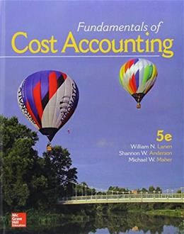 Fundamentals of Cost Accounting 5 9781259565403