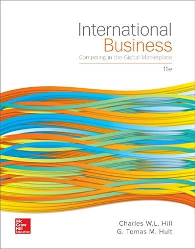 International Business: Competing in the Global Marketplace, by Hill, 11th Edition 9781259578113