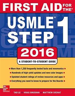 First Aid for the Usmle Step 1, 2016 26 PKG 9781259587375
