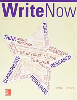 Write Now, by Russell, 2nd Edition 9781259595349