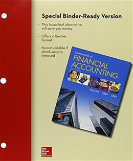 Loose-leaf for Fundamentals of Financial Accounting with Connect 5 9781259619007