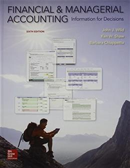 Financial and Managerial Accounting, by Wild, 6th Edition 6 PKG 9781259621758