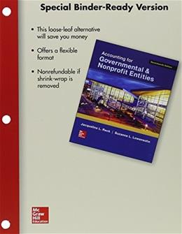Accounting for Governmental and Nonprofit Entities, by Reck, 17th Edition 17 PKG 9781259633157