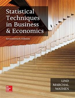 Statistical Techniques in Business and Economics (The Mcgraw-hill/Irwin Series in Operations and Decision Sciences) 17 9781259666360