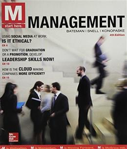 M: Management, by Bateman, 4th Edition 4 PKG 9781259678165