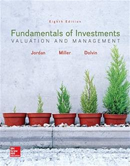 Fundamentals of Investments: Valuation and Management, by  Bradford Jordan 8th PKG Edition 8 PKG 9781259720697