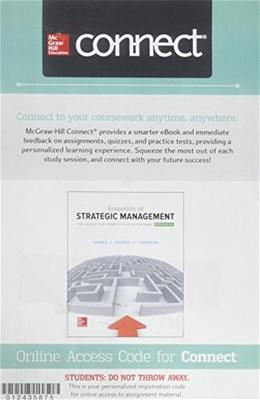Connect 1-Semester Access Card for Essentials of Strategic