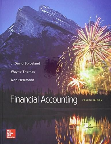Financial Accounting, by Spiceland, 4th Edition 9781259821295