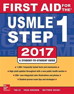 First Aid for the USMLE Step 1 2017 27 9781259837630