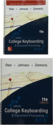 Gregg College Keyboarding & Document Processing, Gdp + Microsoft Word 2016 Manual Kit 1 - Lessons 1-60 11 Pck Spi 9781259921148