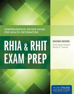 Comprehensive Review Guide For Health Information: RHIA and RHIT Exam Prep, by Tyson-Howard, 2nd Edition 2 PKG 9781284045321