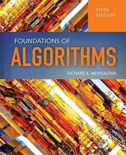 Foundations Of Algorithms, by Neapolitan, 5th Edition 9781284049190