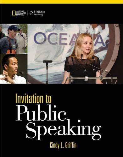 Invitation to Public Speaking - National Geographic Edition 5 9781285066141