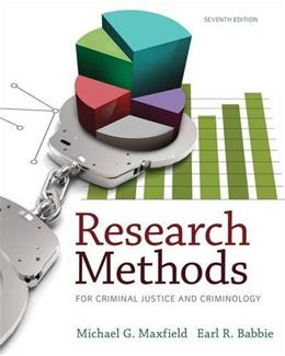 Research Methods for Criminal Justice and Criminology 7 9781285067841