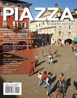 Piazza (with iLrn™ Heinle Learning Center, 4 terms (24 months) Printed Access Card) (World Languages) PKG 9781285074818