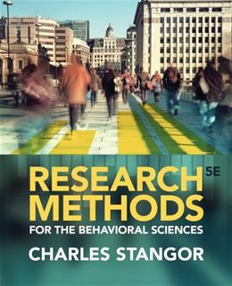 Research Methods for the Behavioral Sciences 5 9781285077024