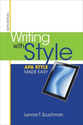 Writing with Style: APA Style Made Easy 6 9781285077062