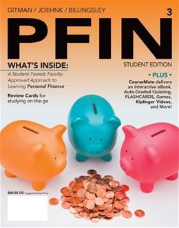 PFIN, by Gitman, 3rd Edition 3 PKG 9781285082578