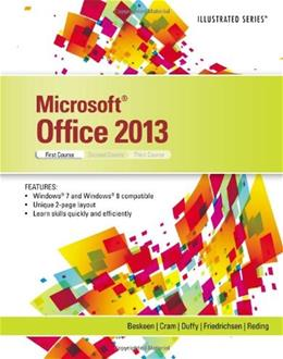 Microsoft Office 2013: Illustrated Introductory, by Beskeen, 1st Course 9781285088488