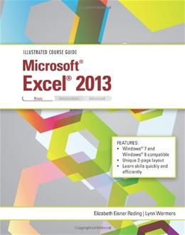 Illustrated Course Guide: Microsoft Excel 2013 Basic, by Reding 9781285093390