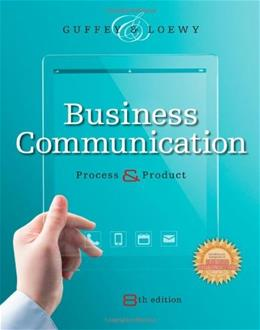 Business Communication: Process and Product (with Student Premium Website Printed Access Card) 8 PKG 9781285094069