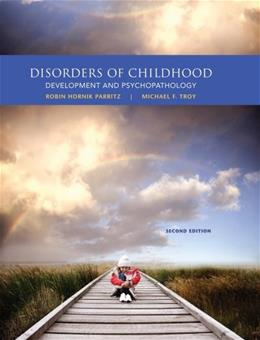 Disorders of Childhood: Development and Psychopathology 2 9781285096063