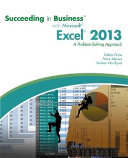 Succeeding in Business with Microsoft Excel 2013: A Problem-Solving Approach (New Perspectives) 9781285099149