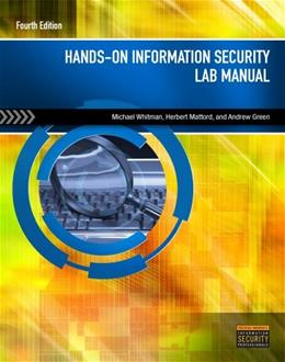 Hands On Information Security Lab Manual, by Whitman 4 9781285167572