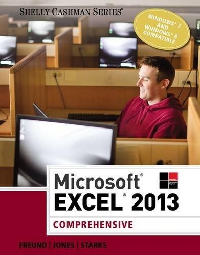 Microsoft Excel 2013: Comprehensive (Shelly Cashman Series) 9781285168432