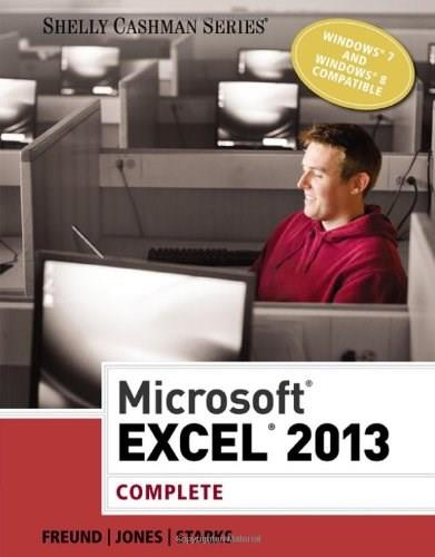 Microsoft Excel 2013, by Freund, Complete 9781285168449