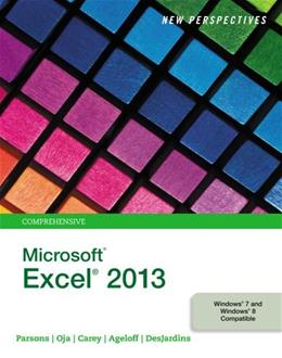 New Perspectives on Microsoft Excel 2013, Comprehensive 9781285169330