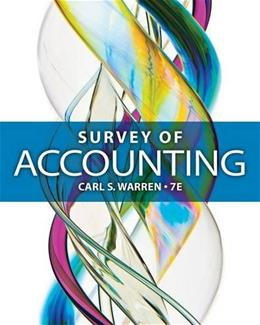 Survey of Accounting 7 9781285183480