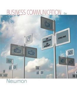 Business Communication: In Person, In Print, Online 9 9781285187044