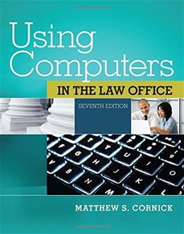 Using Computers in the Law Office (with Premium Web Site Printed Access Card) (West Legal Studies) 7 PKG 9781285189598
