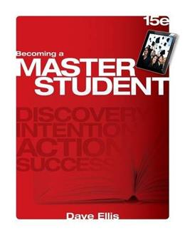 Becoming a Master Student (Textbook-specific CSFI) 15 9781285193892
